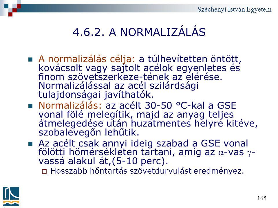4.6.2. A NORMALIZÁLÁS