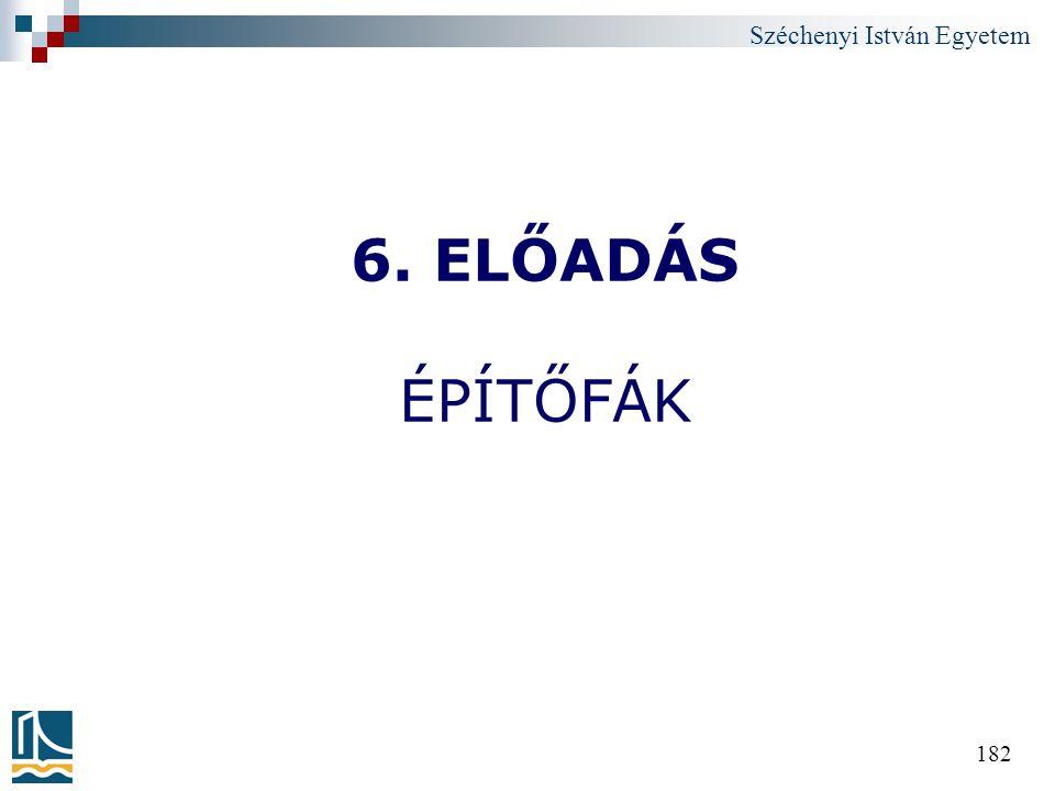6. ELŐADÁS ÉPÍTŐFÁK