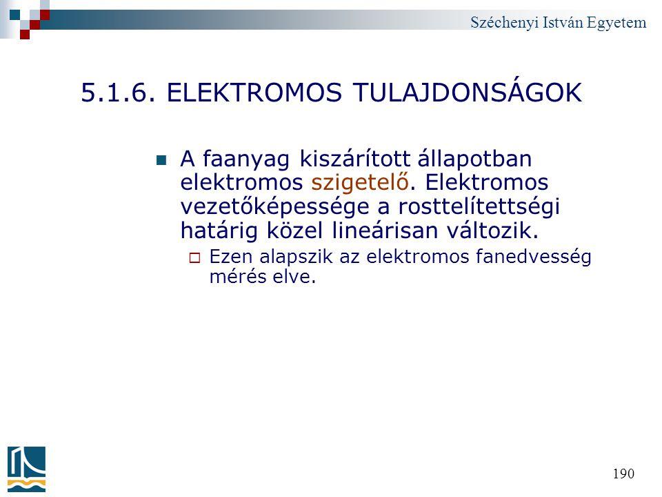 5.1.6. ELEKTROMOS TULAJDONSÁGOK