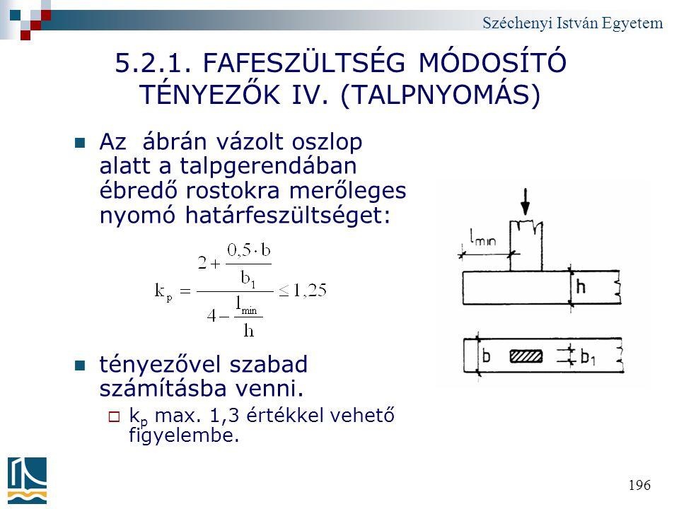 5.2.1. FAFESZÜLTSÉG MÓDOSÍTÓ TÉNYEZŐK IV. (TALPNYOMÁS)
