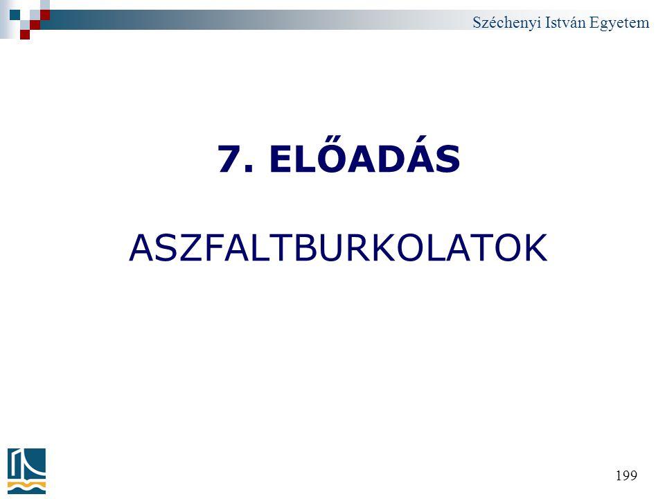 7. ELŐADÁS ASZFALTBURKOLATOK