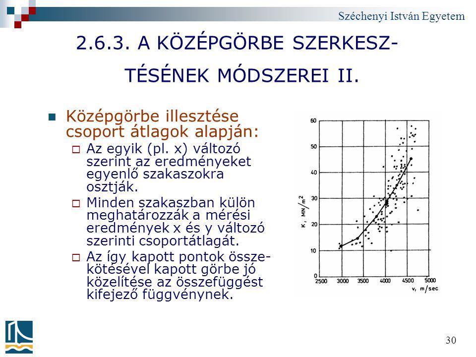 2.6.3. A KÖZÉPGÖRBE SZERKESZ- TÉSÉNEK MÓDSZEREI II.