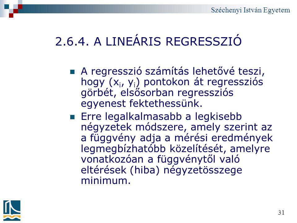 2.6.4. A LINEÁRIS REGRESSZIÓ