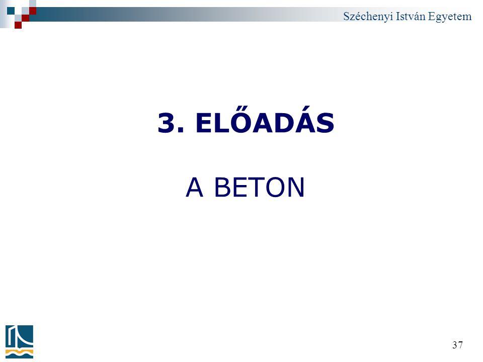 3. ELŐADÁS A BETON