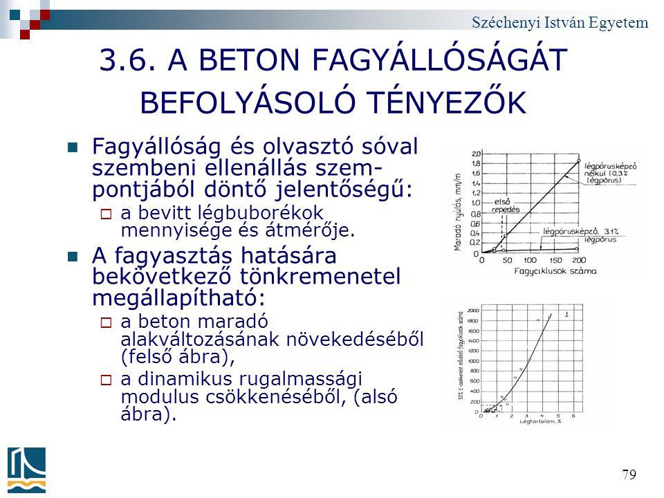 3.6. A BETON FAGYÁLLÓSÁGÁT BEFOLYÁSOLÓ TÉNYEZŐK