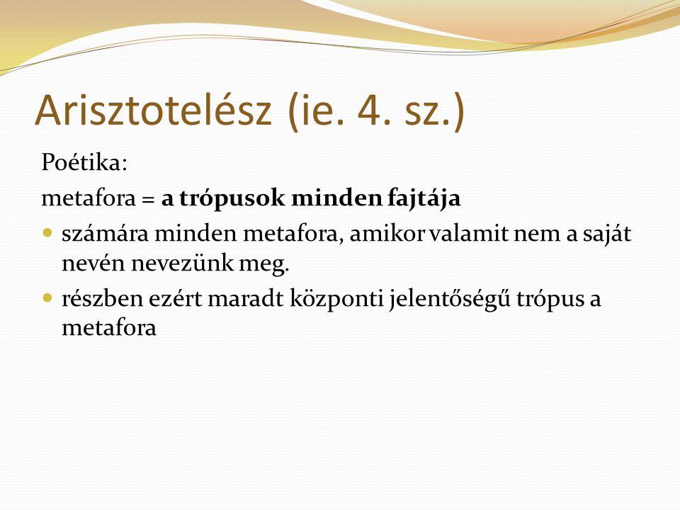Arisztotelész (ie. 4. sz.) Poétika: