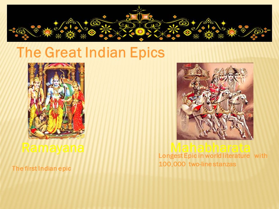 The Great Indian Epics Ramayana Mahabharata