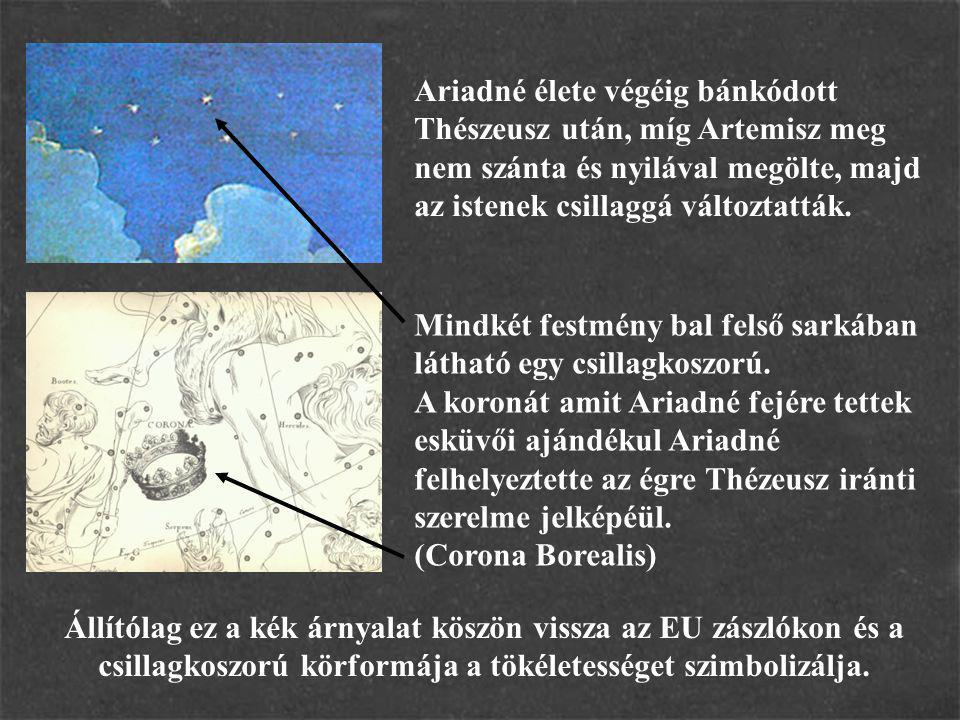 Ariadné élete végéig bánkódott Thészeusz után, míg Artemisz meg nem szánta és nyilával megölte, majd az istenek csillaggá változtatták.
