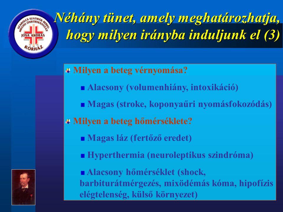 Néhány tünet, amely meghatározhatja, hogy milyen irányba induljunk el (3)