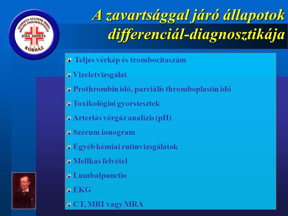 A zavartsággal járó állapotok differenciál-diagnosztikája