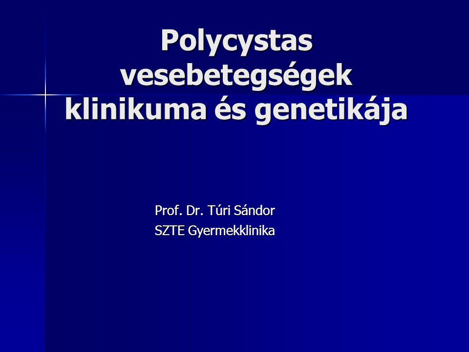 Polycystas vesebetegségek klinikuma és genetikája