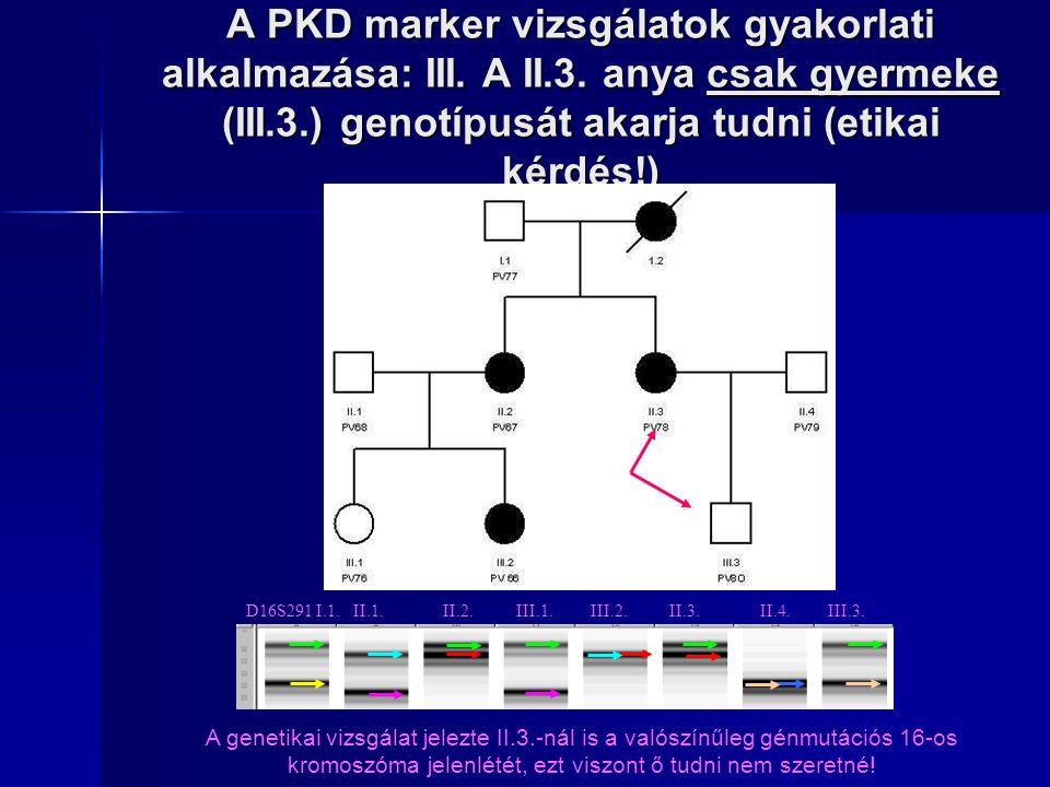A PKD marker vizsgálatok gyakorlati alkalmazása: III. A II. 3