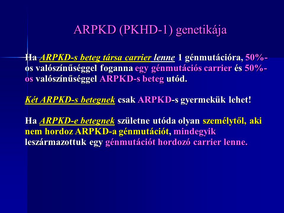 ARPKD (PKHD-1) genetikája