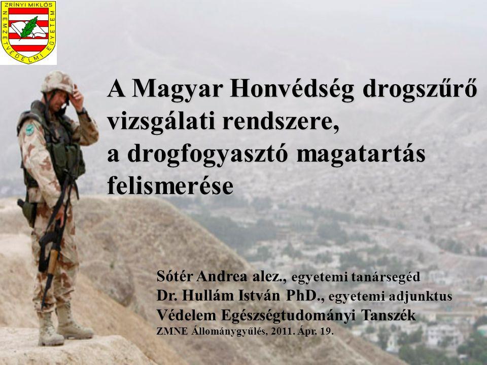 A Magyar Honvédség drogszűrő vizsgálati rendszere, a drogfogyasztó magatartás felismerése