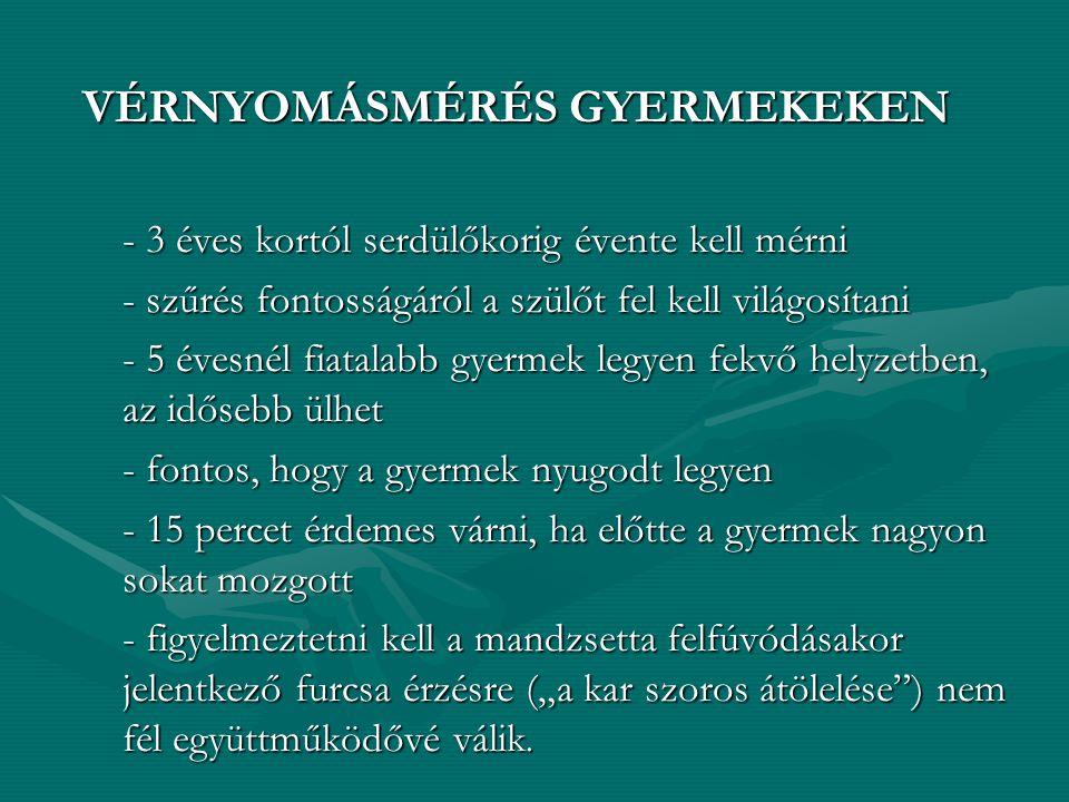 VÉRNYOMÁSMÉRÉS GYERMEKEKEN