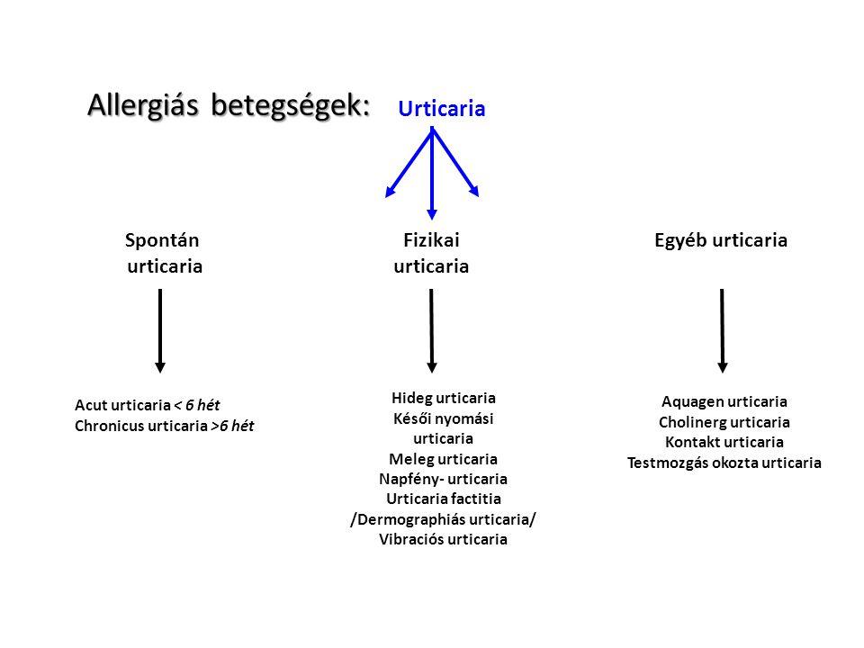 /Dermographiás urticaria/ Testmozgás okozta urticaria