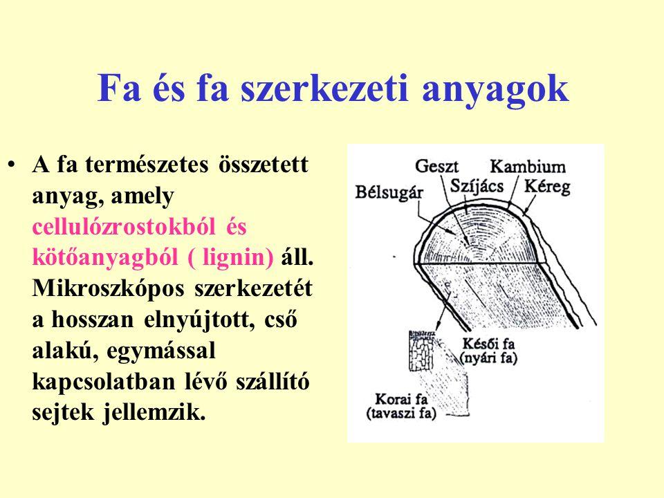 Fa és fa szerkezeti anyagok