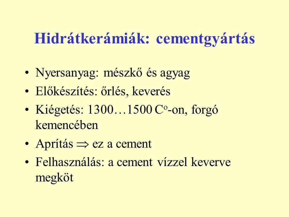 Hidrátkerámiák: cementgyártás