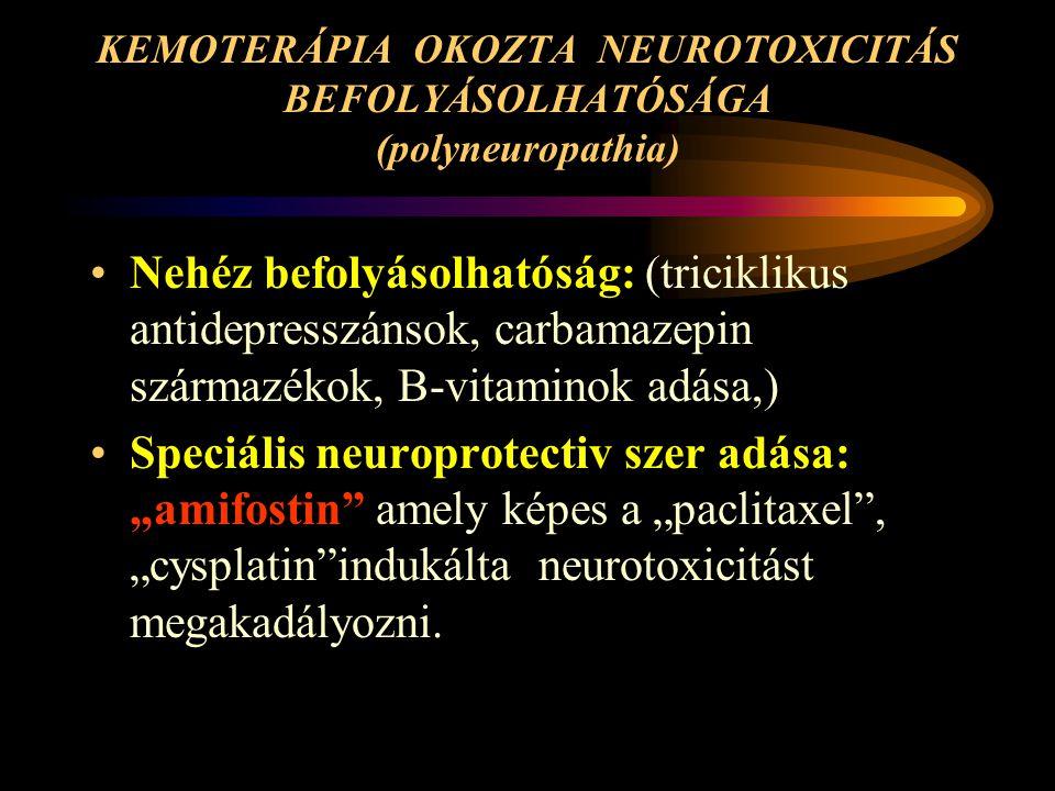 KEMOTERÁPIA OKOZTA NEUROTOXICITÁS BEFOLYÁSOLHATÓSÁGA (polyneuropathia)