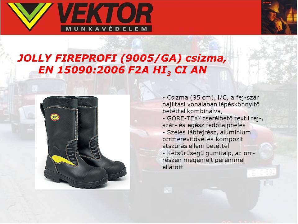 JOLLY FIREPROFI (9005/GA) csizma, EN 15090:2006 F2A HI3 CI AN