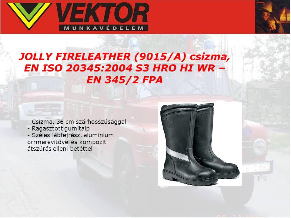 JOLLY FIRELEATHER (9015/A) csizma, EN ISO 20345:2004 S3 HRO HI WR – EN 345/2 FPA