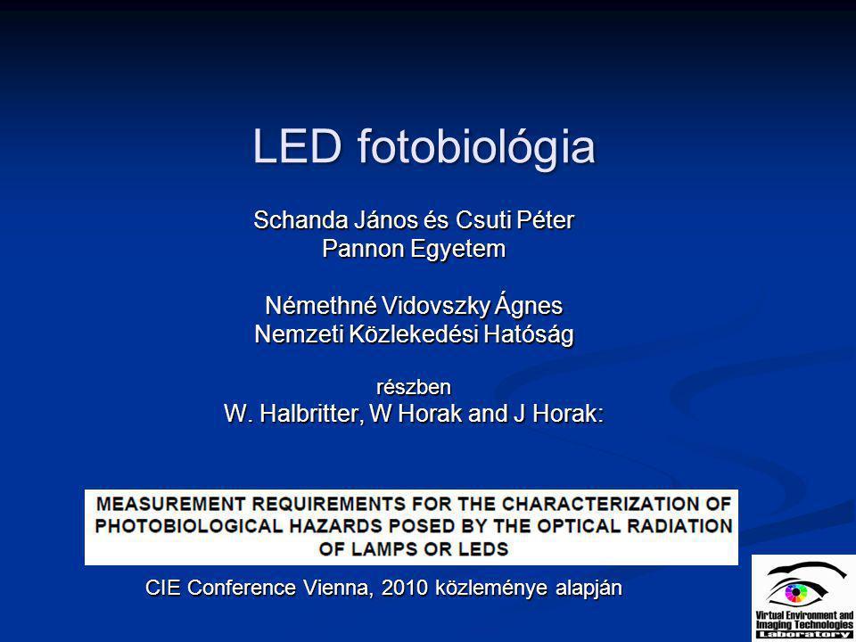 LED fotobiológia Schanda János és Csuti Péter Pannon Egyetem