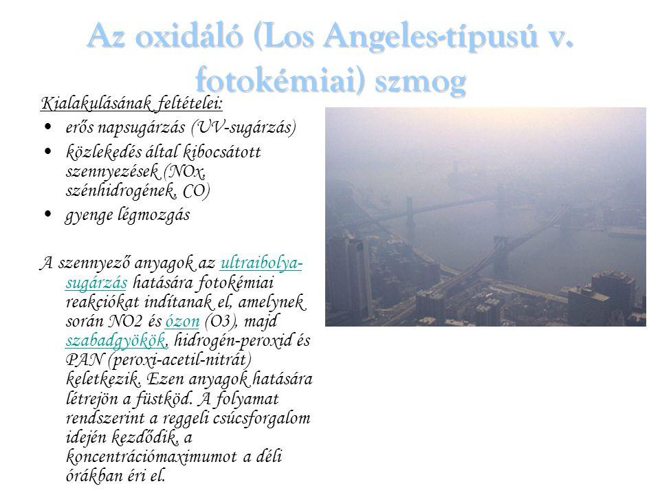Az oxidáló (Los Angeles-típusú v. fotokémiai) szmog