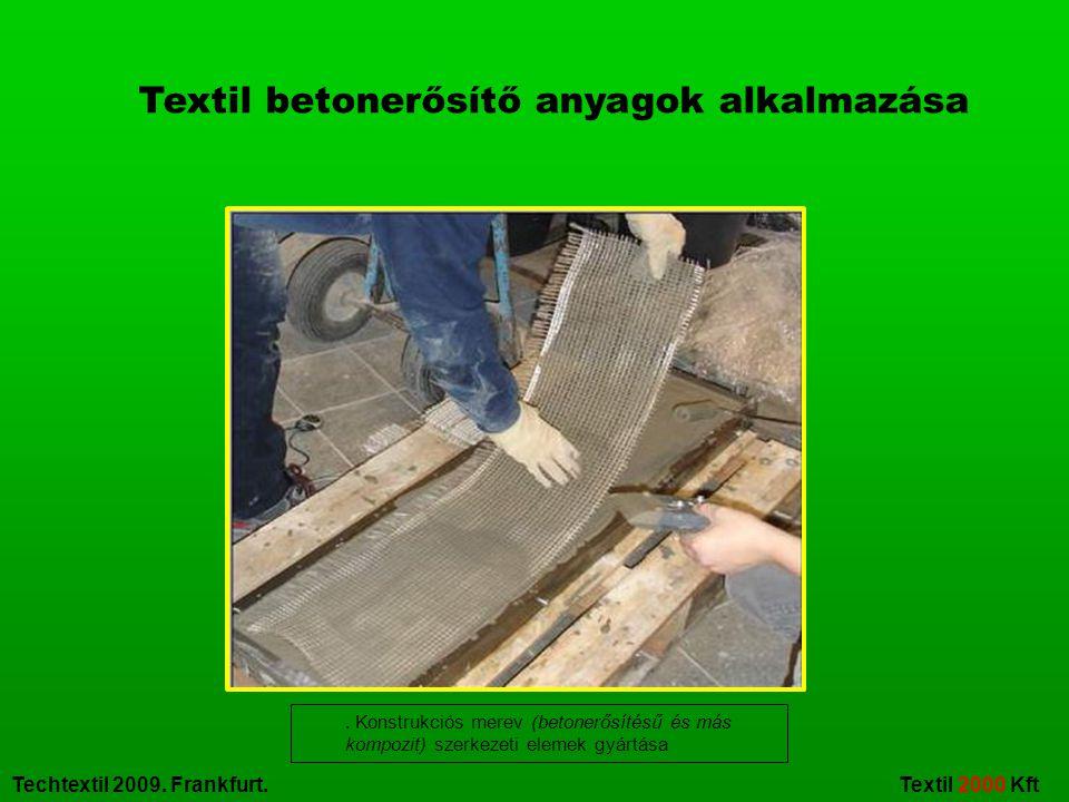 Textil betonerősítő anyagok alkalmazása