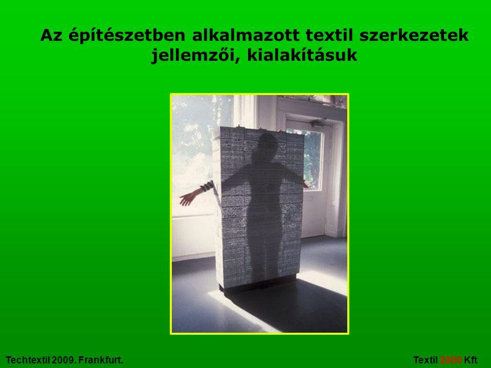 Az építészetben alkalmazott textil szerkezetek jellemzői, kialakításuk