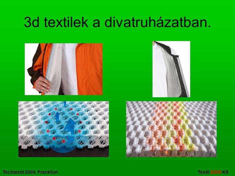 3d textilek a divatruházatban.