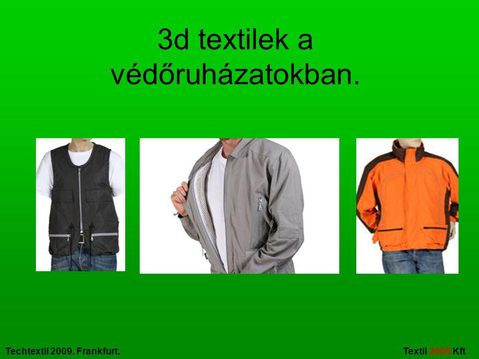 3d textilek a védőruházatokban.