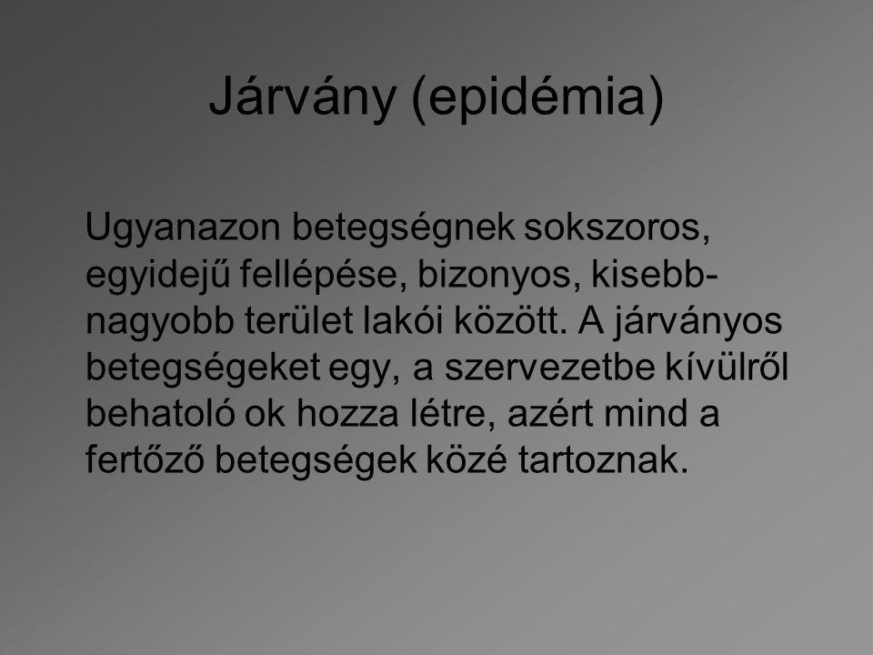 Járvány (epidémia)