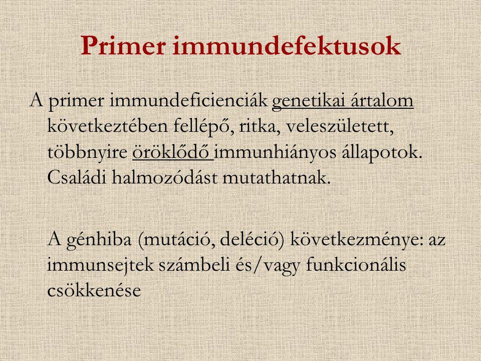 Primer immundefektusok