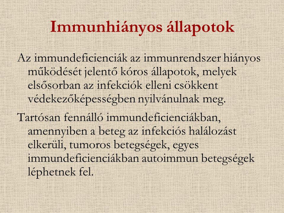 Immunhiányos állapotok