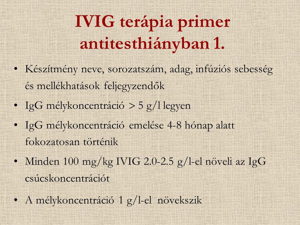 IVIG terápia primer antitesthiányban 1.