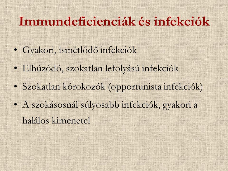 Immundeficienciák és infekciók