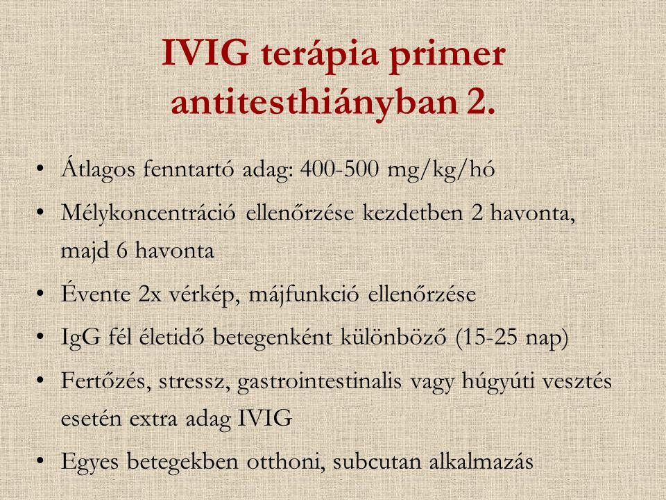IVIG terápia primer antitesthiányban 2.