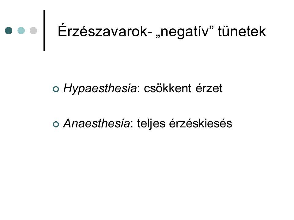 """Érzészavarok- """"negatív tünetek"""