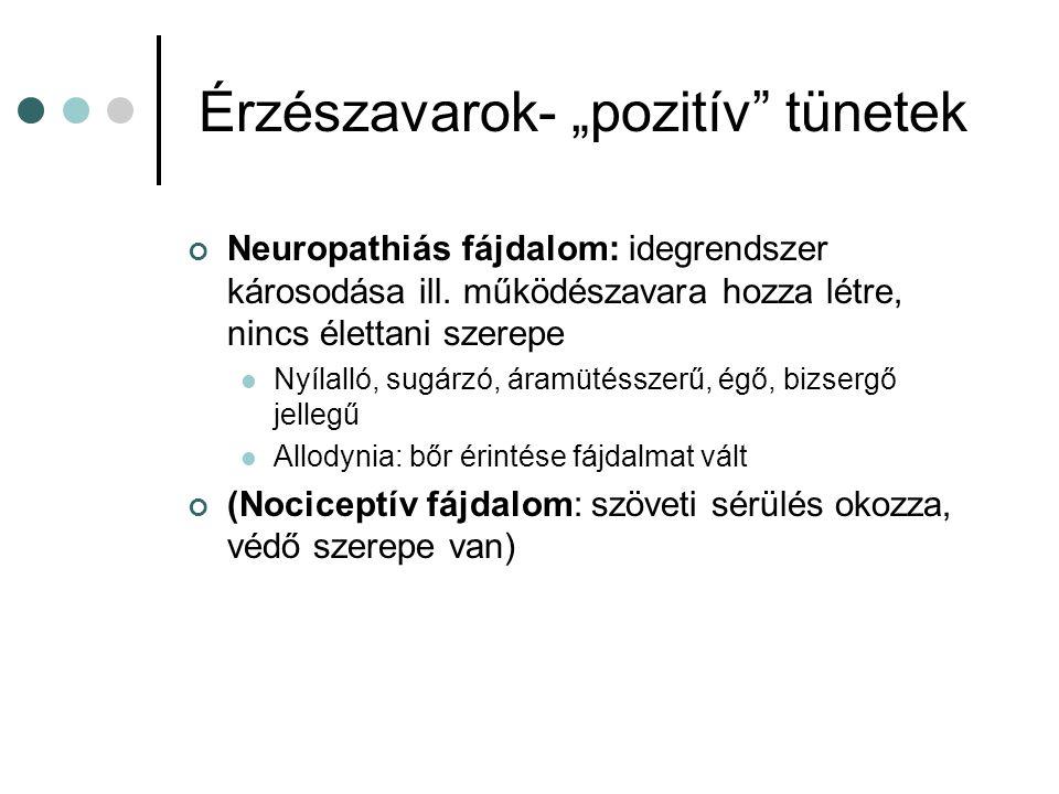 """Érzészavarok- """"pozitív tünetek"""