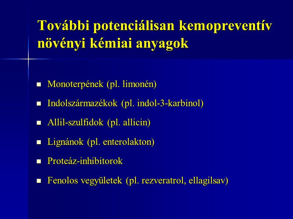 További potenciálisan kemopreventív növényi kémiai anyagok