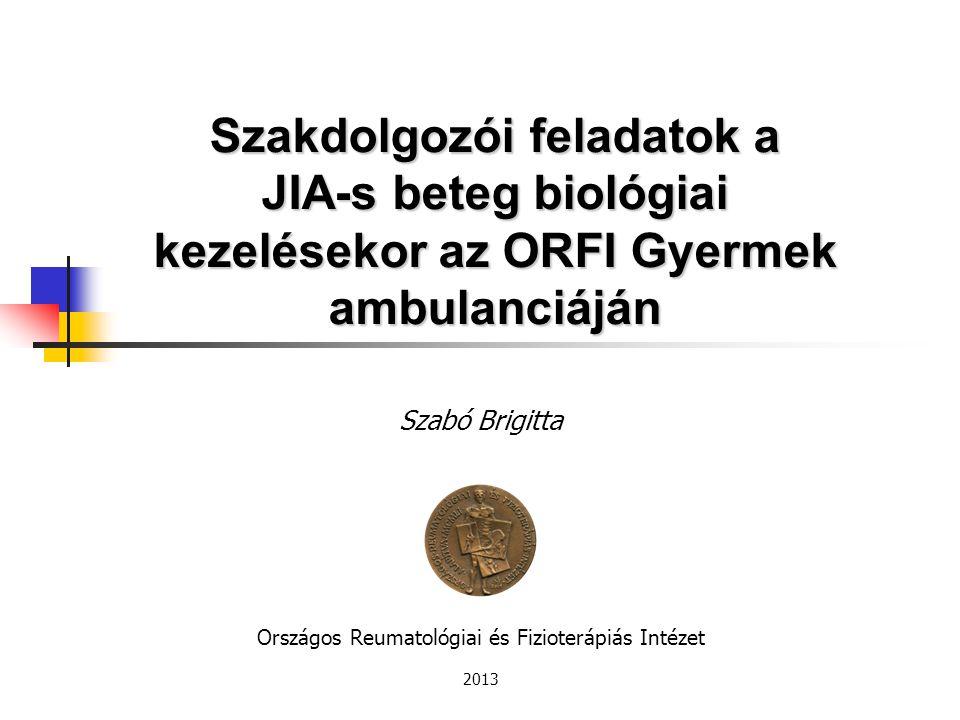 Országos Reumatológiai és Fizioterápiás Intézet 2013