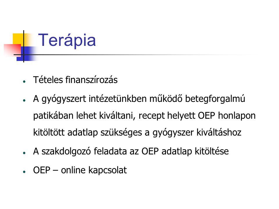 Terápia Tételes finanszírozás