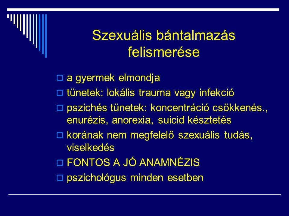 Szexuális bántalmazás felismerése