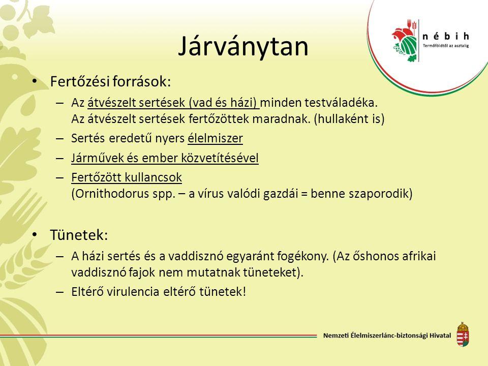 Járványtan Fertőzési források: Tünetek:
