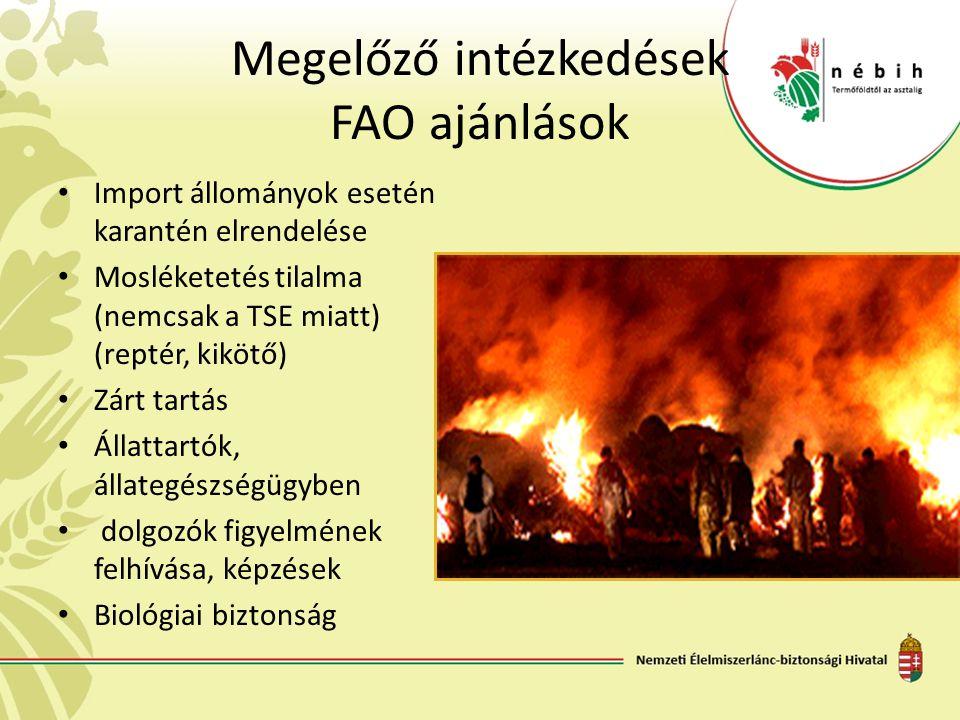 Megelőző intézkedések FAO ajánlások