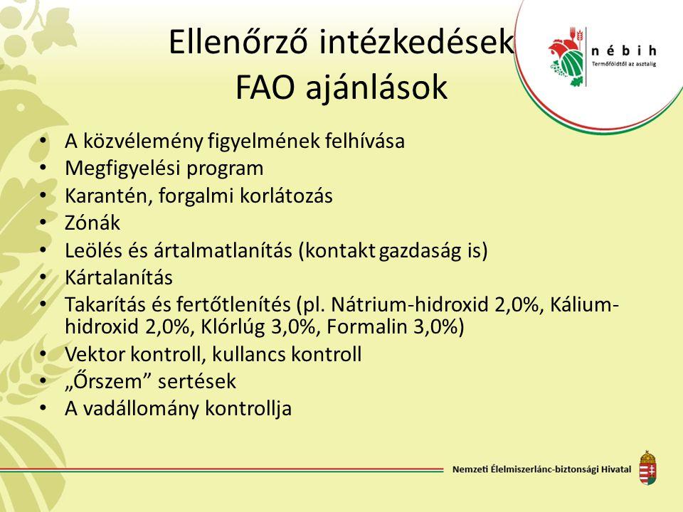 Ellenőrző intézkedések FAO ajánlások