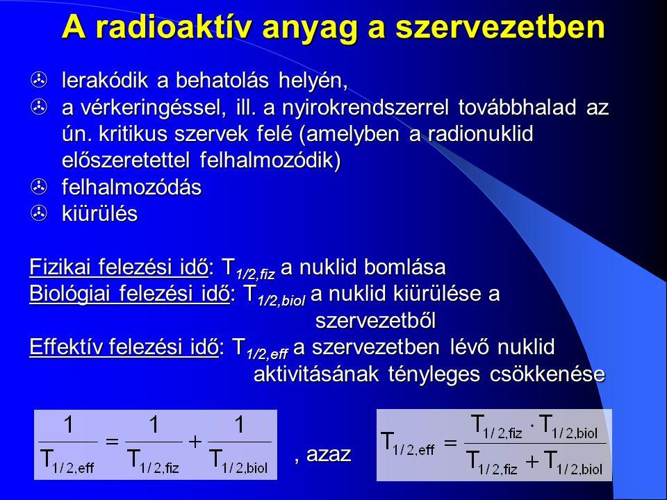 A radioaktív anyag a szervezetben