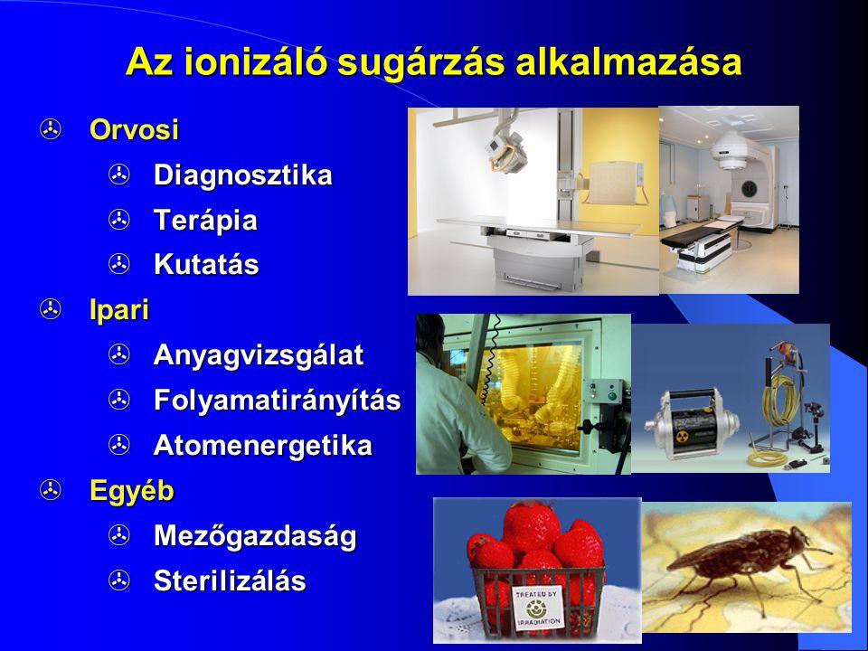 Az ionizáló sugárzás alkalmazása
