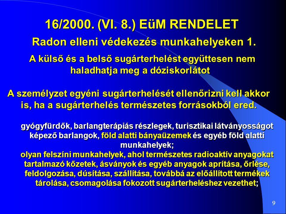 Radon elleni védekezés munkahelyeken 1.