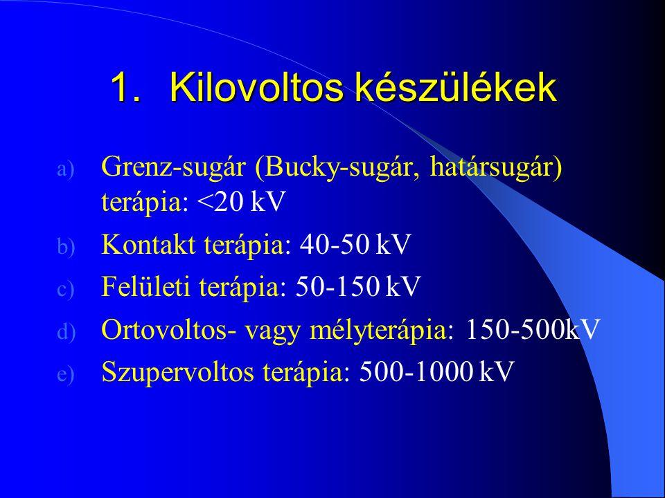 1. Kilovoltos készülékek